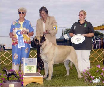Jules takes a Group 1 at Bryn Mawr Kennel Club June 18th under Mrs. Hess!